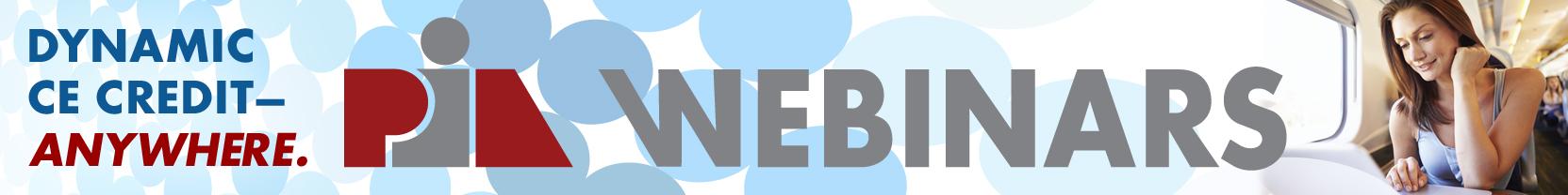PIA Webinars
